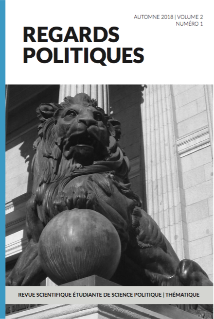 Regards politiques cover vol2 no 1